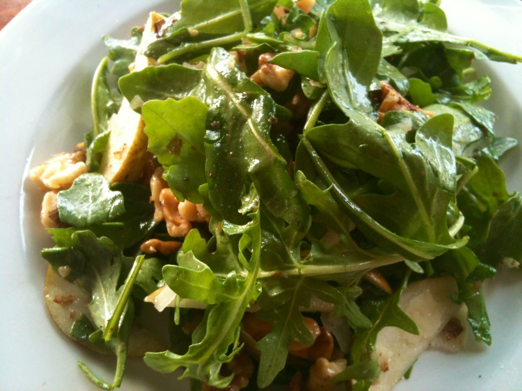 Pear Walnut Arugula Salad