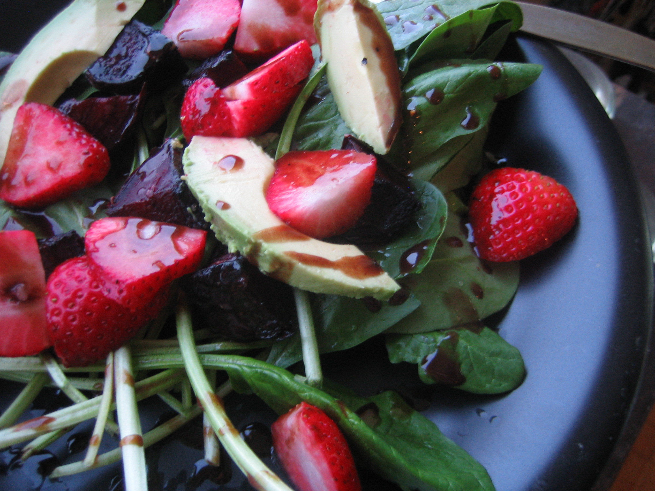 Strawberry Avocado Salad with Nutella Dressing