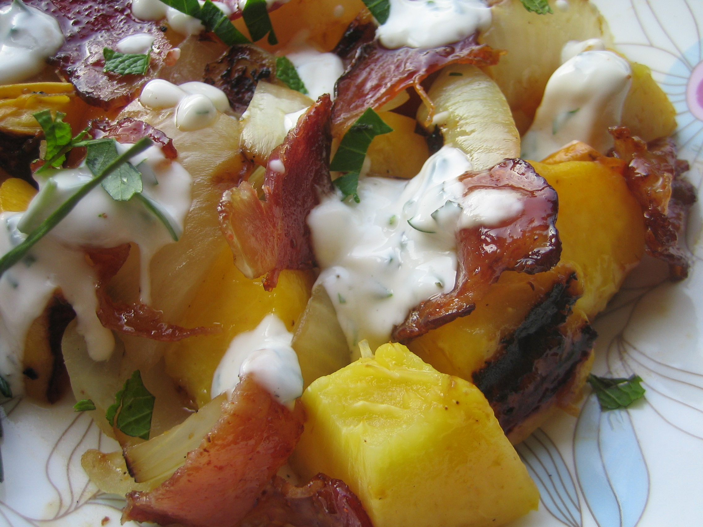 Peach Onion Bacon Salad FM