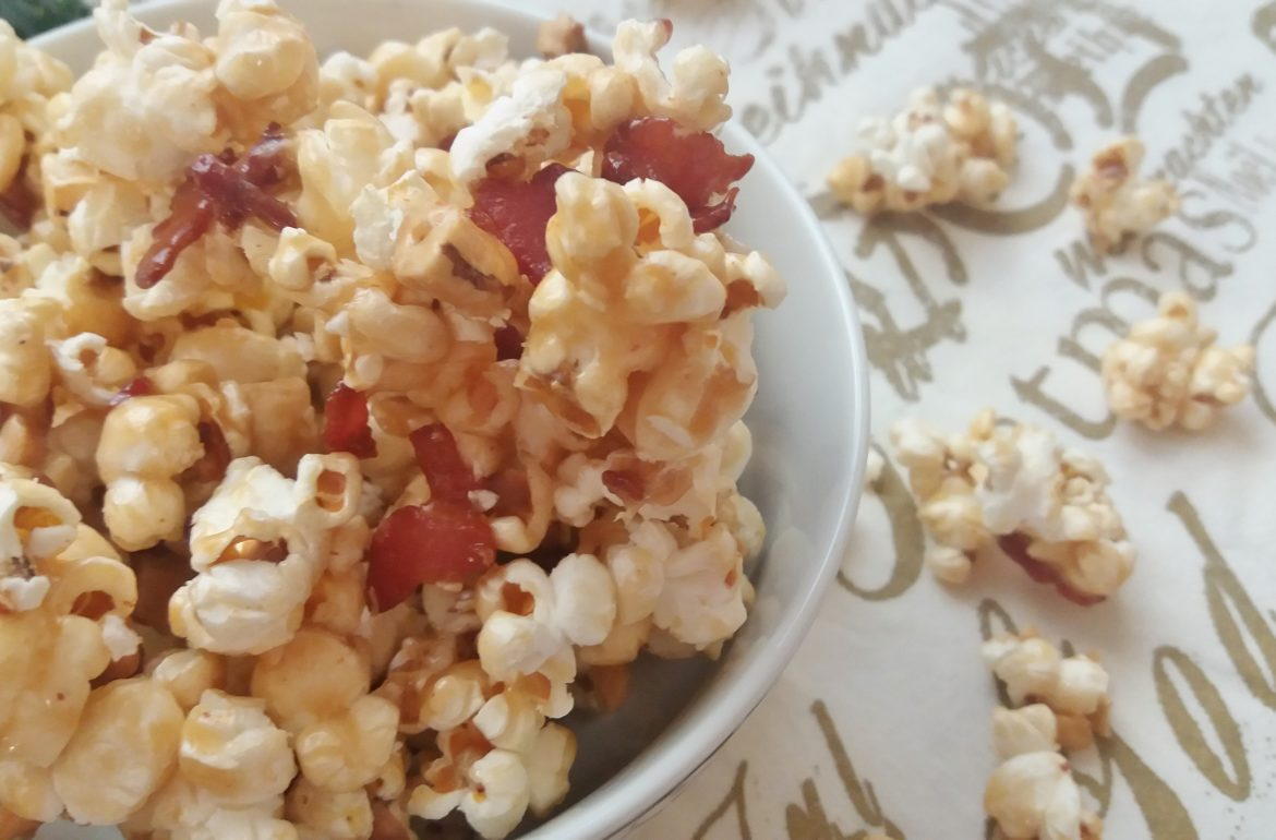 Bacon Cashew Caramel Popcorn Recipe — Dishmaps